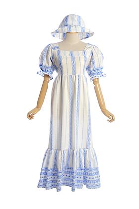 Gone Foraging Cotton Dress & Sun Hat