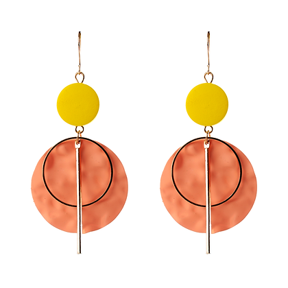Sculptural Orange Earrings