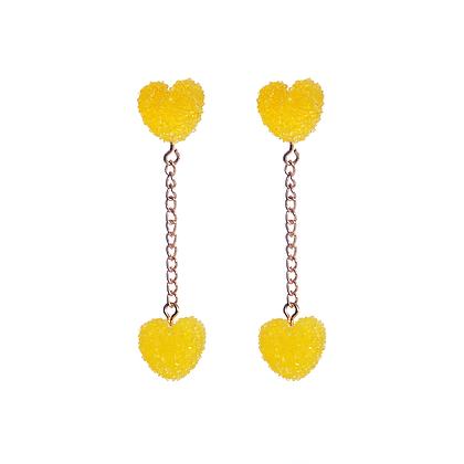 Yellow Gum Drop Earrings