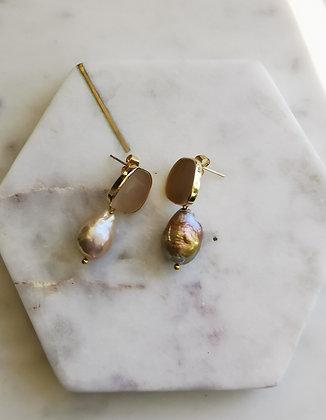 Tatiana Nestor Mocha Pearl Earrings