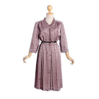 Ruffle Me Pink Vintage Dress