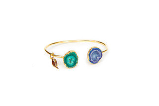 Magpie Rose Blue & Green Rocks in the Sky Bangle
