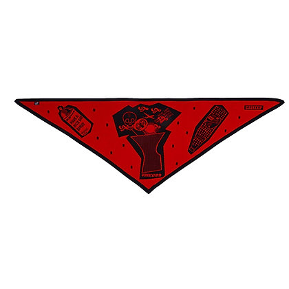 Electronic Sheep 'Junkyard' Triangle Scarf - Red