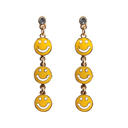 """Don't Worry, Be Happy"" Earrings"
