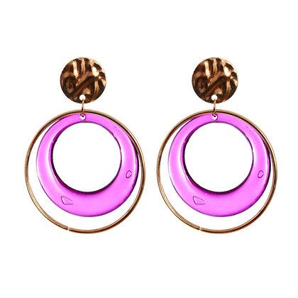 Double The Hoop, Double The Diva Earrings