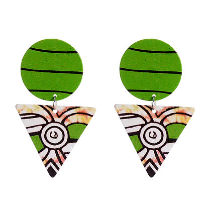 Neolithic Green Earrings