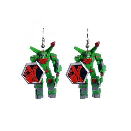 Green Autobot Earrings