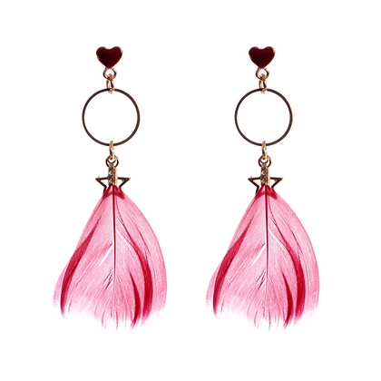 Whimsical Feather Earrings