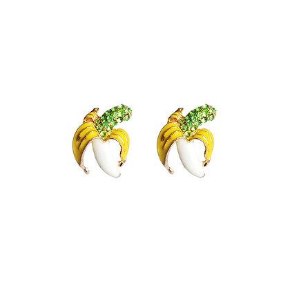 Bejewelled Banana Earrings