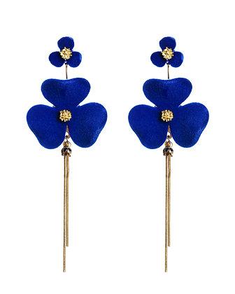 Indigo Iris Earrings