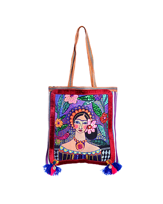 Flowering Frida Large Shopper