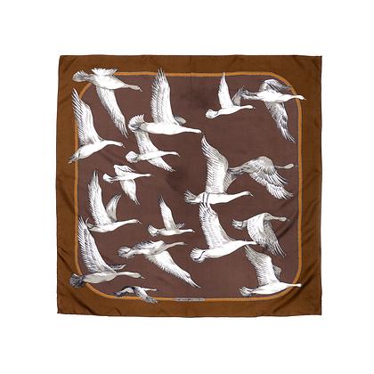 Flock of Geese Vintage Scarf