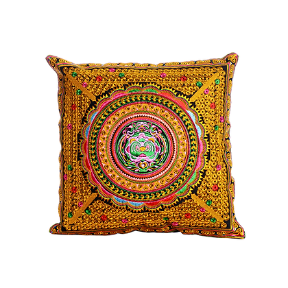 Golden Musa Cushion Cover