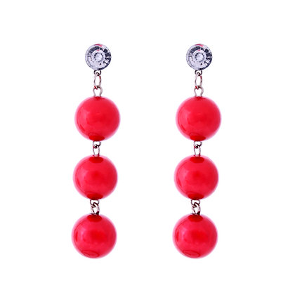 Candy Apple Earrings