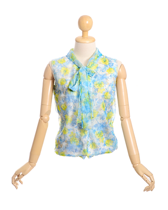 French Riviera Vintage Blouse
