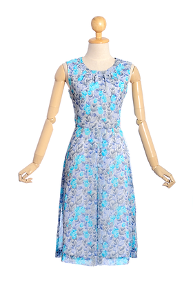 A Sky Full of Tulips Vintage Dress