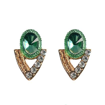 Emerald Arrow Earrings