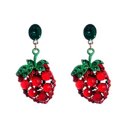 Strawberries, Cherries And An Angel's Kiss In Spring Earrings