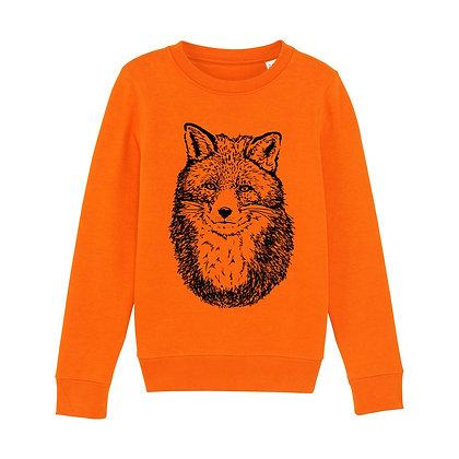 Fauna Kids Fox Sweatshirt Orange