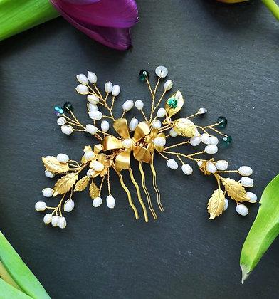 Tatiana Nestor Flowers & Fresh Water Pearl Headpiece