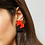 Thumbnail: Shock of Grey New Wave Earrings in Red & Charcoal
