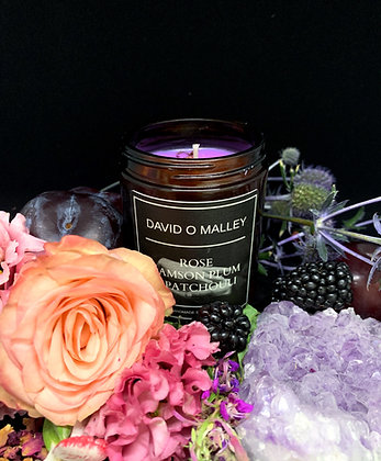 David O Malley Rose, Damson Plum & Patchouli Candle