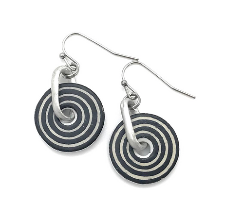 World Design Ostrich Petite Earrings Circles