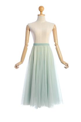 Pistachio Pastel Tulle Skirt