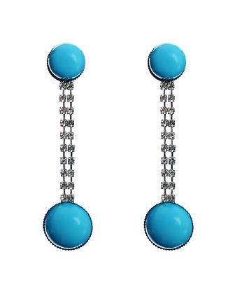 Bedazzle in Blue Earrings