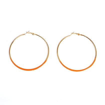 Tangerine Hoop Earrings