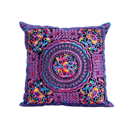 Spiraling Birds of Paradise Cushion Cover