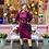 Thumbnail: Jewel toned 1980's dress