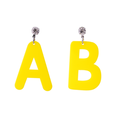 Awesome Alphabet Earrings