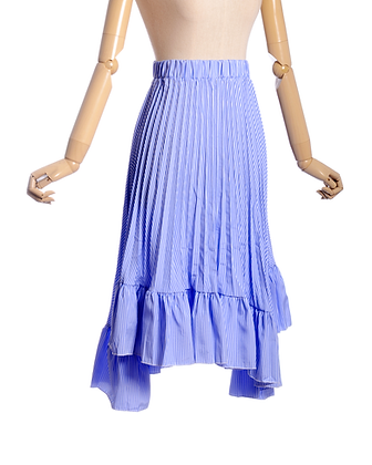 Blue Skies Pinstripe Skirt