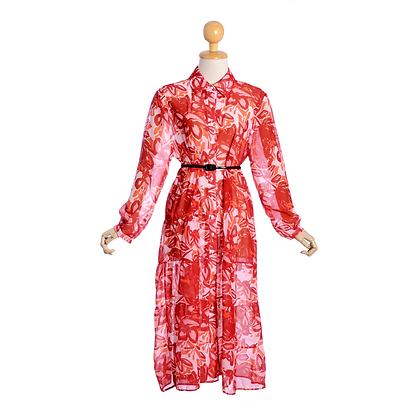 Graphic Hibiscus Dress