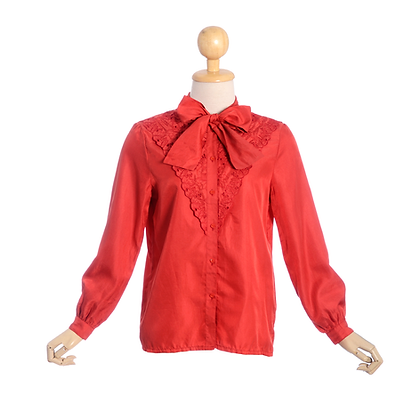 Ruby Red Vintage Blouse