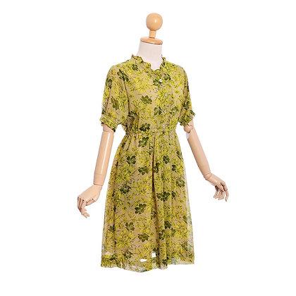 Fantastical Fern Vintage Dress
