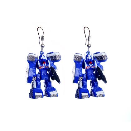 Blue Autobot Earrings