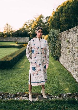 Laoise Carey Expanding Sleeve Patchwork Coat