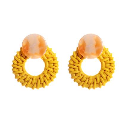 Golden Woven Earrings