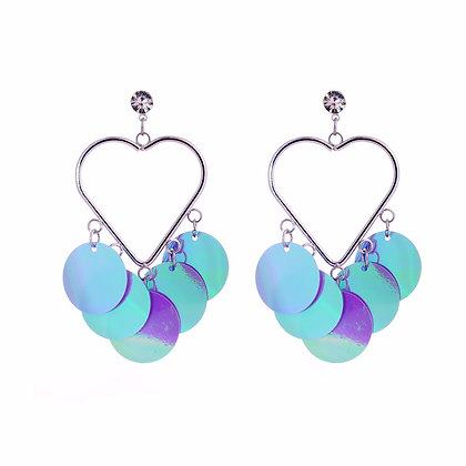 Iridescent Love Earrings