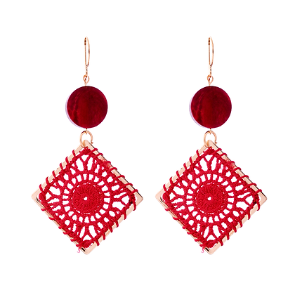 Crimson Wish Earrings