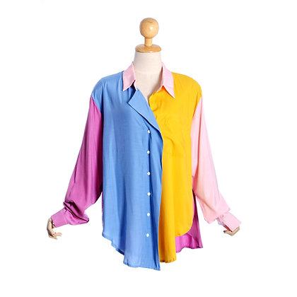 Colour Patch Oversized Shirt