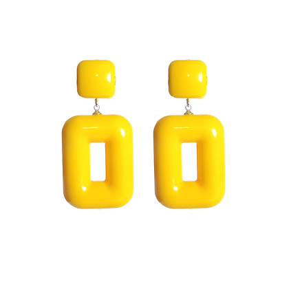 Flash Yellow Earrings