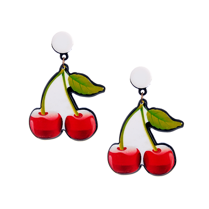 Candied Cherry Earrings