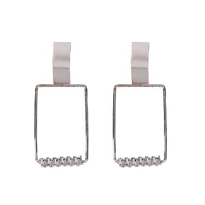 Sleek in Silver Earrings