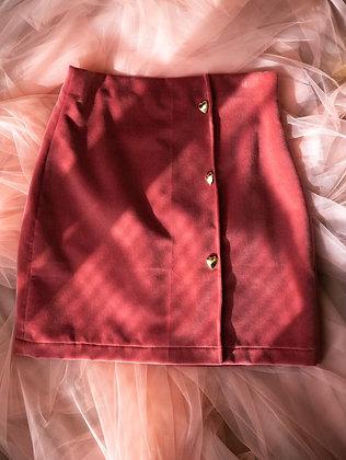 Anna Buzan Pink Velvet Skirt
