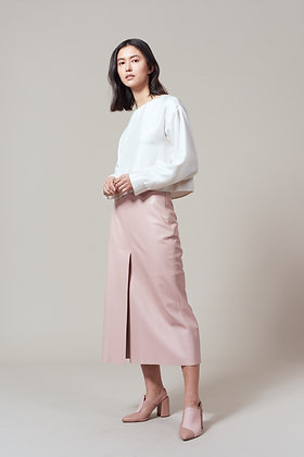 Edel Traynor Lamb Nappa Leather Skirt