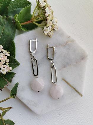 Tatiana Nestor Pink Quartz Earrings