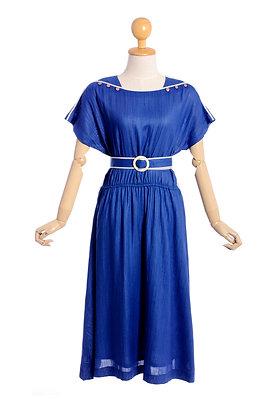 Nautical Blue Vintage Dress